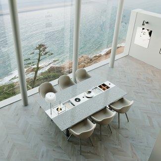 """Ap Design Design Grilltisch """"a la carte"""" In & Outdoor mit Granit, 6 Einsätze / 30 Varianten, Grau"""