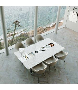 """Ap Design Design Grilltisch """"a la carte"""" In & Outdoor mit Granit, 6 Einsätze / 30 Varianten, Weiss"""