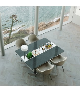 """Ap Design Design Grilltisch """"a la carte"""" In & Outdoor mit Granit, 4 Einsätze / 30 Varianten, Schwarz"""