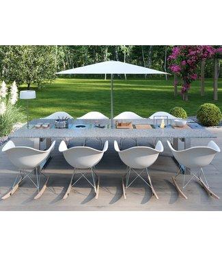 """Ap Design Design Grilltisch """"a la carte"""" In & Outdoor mit Granit, 8 Einsätze / 30 Varianten, Grau"""