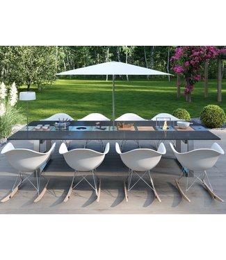 """Ap Design Design Grilltisch """"a la carte"""" In & Outdoor mit Granit, 8 Einsätze / 30 Varianten, Schwarz"""