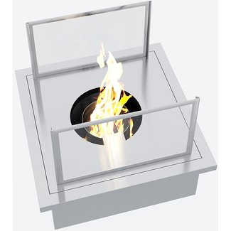 """AP Design Metall Luzern Edelstahl Behälter """"die gemütliche Flamme - Biofeuer"""" zu Design Grilltisch """"a la carte"""""""