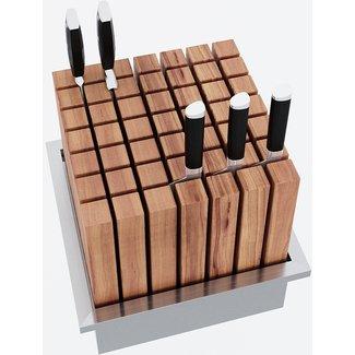"""AP Design Metall Luzern Behälter in Edelstahl für """"Massiver Messerblock Eiche"""" zuDesign Grilltisch """"a la carte"""""""