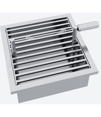 """Ap Design Einsatz """"Drehspiess Set mit Grillmotor USB"""" zu Design Grill Tisch """"a la carte"""""""