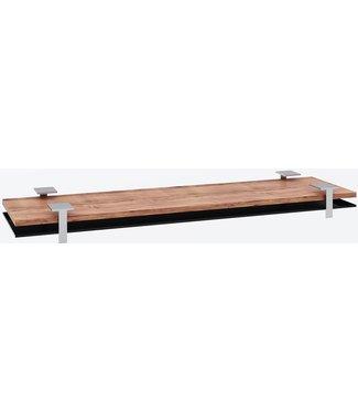 """Ap Design Unterbau für """"6er Tisch"""" Tischabdeckung und Ablagefach zu Design Grilltisch """"a la carte"""", schwarzes glas"""