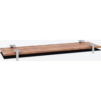 """AP Design Metall Luzern Unterbau für """"8er Tisch"""" Tischabdeckung und Ablagefach zu Design Grilltisch """"a la carte"""", schwarzes glas"""