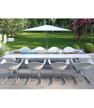 """Ap Design Design Grilltisch """"a la carte"""" In & Outdoor mit Glas, 8 Einsätze / 30 Varianten, weisses glas"""