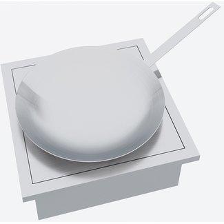 """AP Design Metall Luzern Einsatz Holz / Kohle """"Wok"""" zu Design Grilltisch """"a la carte"""""""