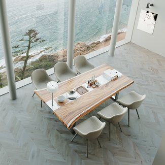 """AP Design Metall Luzern Design Grilltisch """"a la carte"""" In & Outdoor mit Holzplatte 6 Einsätze / 30 Varianten"""