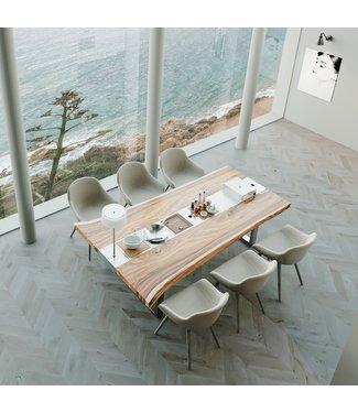 """Ap Design Design Grilltisch """"a la carte"""" In & Outdoor mit Holzplatte 6 Einsätze / 30 Varianten"""