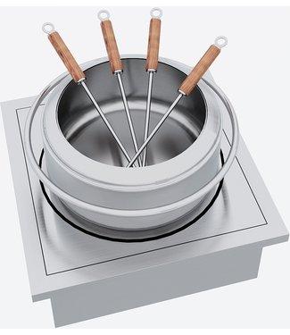 """Ap Design Einsatz """"Fondue Chinoise"""" für Elektrobetrieb zu Design Grilltisch """"a la carte"""""""