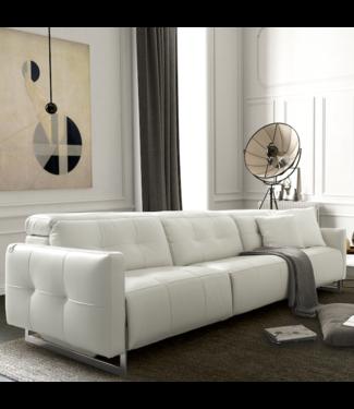 Moderne Leder Sofa SION weiss, in verschiedene Grössen weiss
