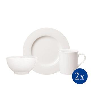 Villeroy & Boch  Villeroy & Boch Twist White Frühstücks-Set für Zwei 6-teilig