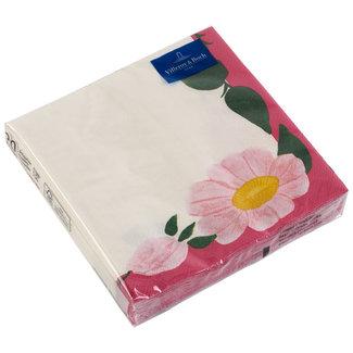Villeroy & Boch Villeroy & Boch Papier Servietten Rose Sauvage Framboise 33x33cm
