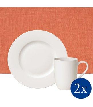 Villeroy & Boch  Villeroy & Boch  Coral at Home Frühstücks-Set, 6-teilig, für 2 Personen, Weiß