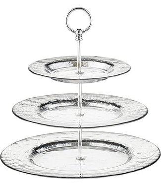 Eisch Glas Eisch Etagere 3-teilig Colombo Silber