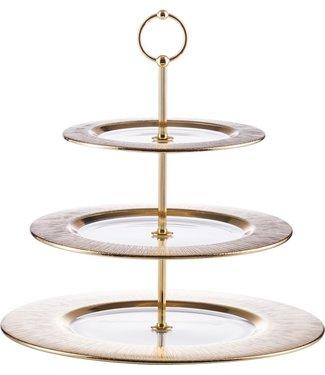 Eisch Glas Eisch Etagere 3-teilig Ravi Gold