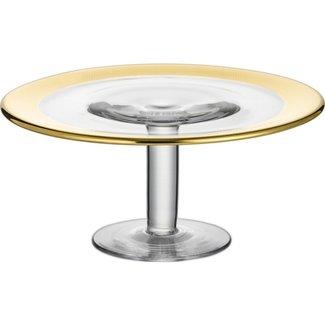 Eisch Glas Eisch Tortenplatte auf Fuß 31 cm gold Aurea