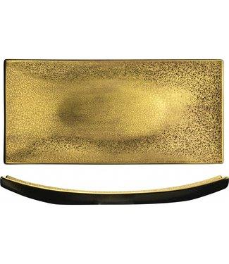 Eisch Glas Eisch Platte 307/39 gold Gold Rush