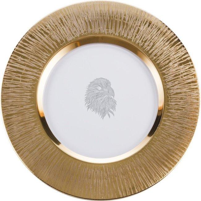 Eisch Glas Eisch Teller 35 cm Silas gold