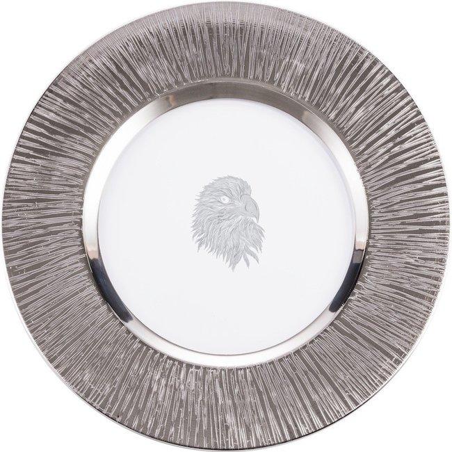 Eisch Glas Eisch Teller 35 cm Silas platin