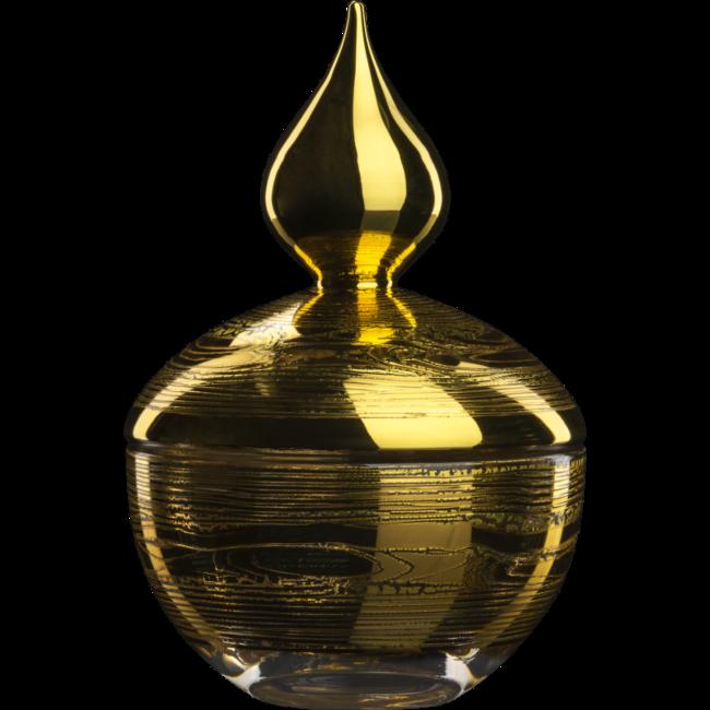 Eisch Glas Eisch Dose 354/17 gold Goldleaf