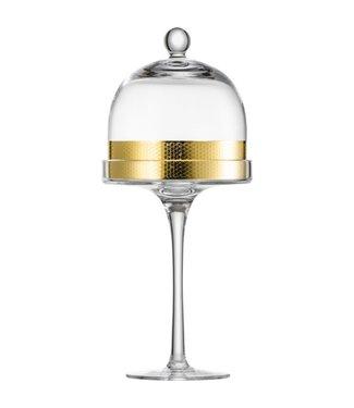 Eisch Glas Eisch Fussschale mit Haube 27 cm gold Aurea