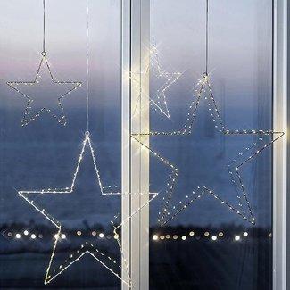 SIRIUS Leonardo Sirius LED Fensterhänger Liva 30 cm Stern Weiss