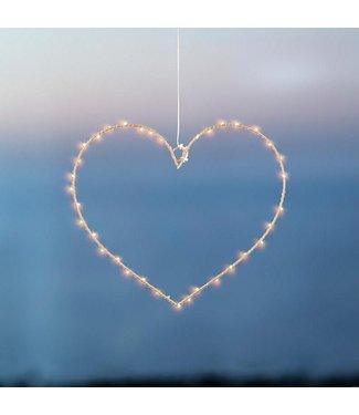 SIRIUS Sirius LED Fensterhänger Liva 64 cm Herz Gold