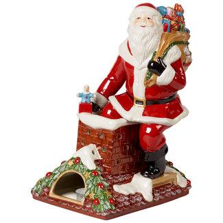 Villeroy & Boch VILLEROY & BOCH Christmas Toy's Memory Santa auf Dach, bunt, 23,5 x 17 x 32 cm