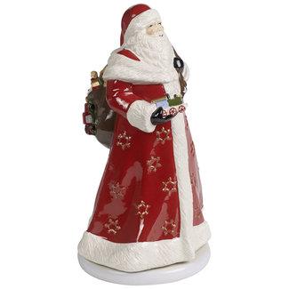Villeroy & Boch VILLEROY & BOCH Christmas Toy's Memory Santa drehend, bunt, 17,5 x 20 x 34 cm