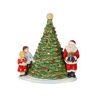 Villeroy & Boch VILLEROY & BOCH Christmas Toy's Santa am Baum, grün/bunt, 20 x 17 x 23 cm