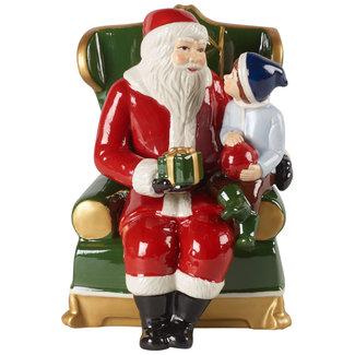 Villeroy & Boch VILLEROY & BOCH Christmas Toy's Santa auf Sessel, bunt, 10 x 10 x 15 cm