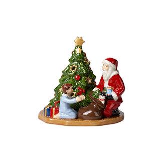 Villeroy & Boch VILLEROY & BOCH Christmas Toy's Windlicht Bescherung, bunt, 15 x 14 x 14 cm