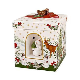 Villeroy & Boch VILLEROY & BOCH Christmas Toys großes eckiges Geschenkpaket Weihnachtsbaum, 16 x 16 x 21,5 cm
