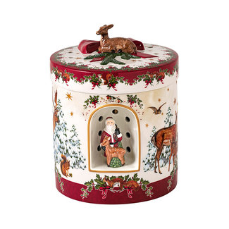 Villeroy & Boch VILLEROY & BOCH Christmas Toys großes rundes Geschenkpaket Christkind, 17 x 17 x 21,5 cm