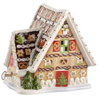 Villeroy & Boch VILLEROY & BOCH Christmas Toys Lebkuchenhaus mit Spieluhr 16x13x16cm