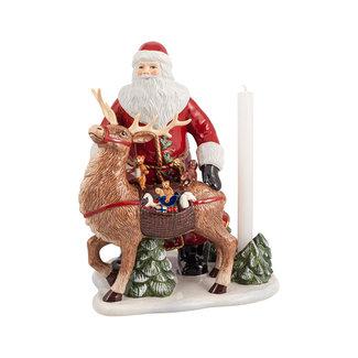 Villeroy & Boch VILLEROY & BOCH Christmas Toys Memory Santa mit Hirsch, 30 x 24 x 35 cm