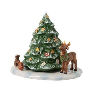 Villeroy & Boch VILLEROY & BOCH Christmas Toys Weihnachtsbaum mit Waldtieren, 23 x 17 x 17 cm