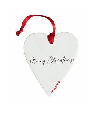 TAITÙ Taitù MERRY CHRISTMAS Decorazione Cuore - Hartvormige decoratie