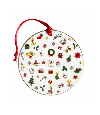 TAITÙ Taitù NOEL  MERRY CHRISTMAS Decorazione Cerchio - Ronde vorm van de decoratie
