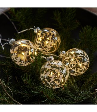 SIRIUS Sirius LED Baumschmuck Weihnachtskugeln, 4er Set, 4 x 3 LED