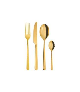 Sambonet Sambonet Besteck-Set Linear PVD 24-teilig, Gold