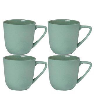 Nudge Nudge Kaffeebecher 250 ml, 4 Stück, Grün