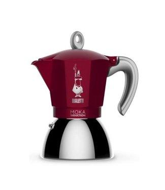 Bialetti Bialetti Espressokanne New Moka Induktion Rot, 6 Tassen