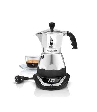 Bialetti Bialetti Espressokanne Moka Timer Schwarz/Silber, 6 Tassen CHF 149.00