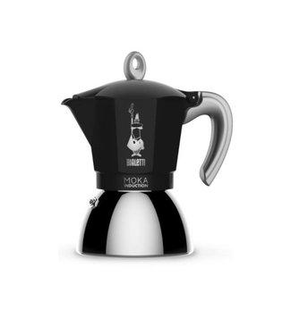 Bialetti Bialetti Espressokanne New Moka Induktion Schwarz, 6 Tassen