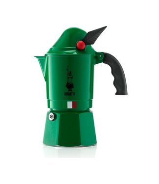 Bialetti Bialetti Espressokanne Alpina Grün, 3 Tassen