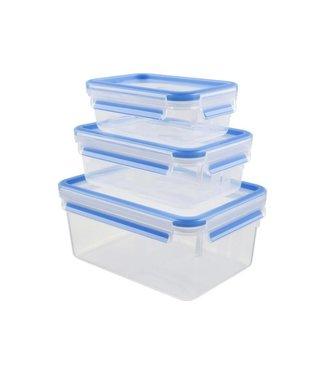 Emsa Emsa Vorratsbehälter 3 Stück, 3.85 l, Blau/Transparent