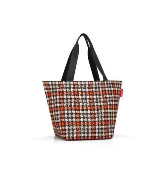 Reisenthel  Reisenthel Tasche Shopper M Glencheck Red Schwarz/Grau/Beige/Orange